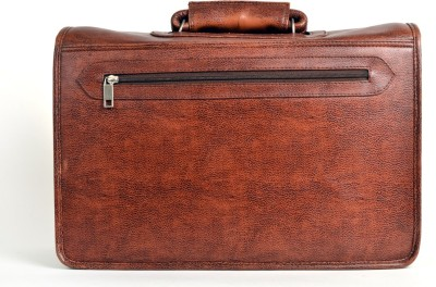 Just Differ Men Brown Genuine Leather Satchel