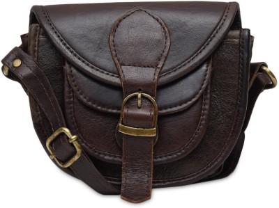 The Backbencher Women, Girls Brown Leatherette Sling Bag