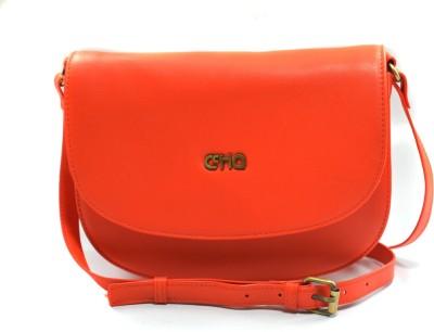 Ccha Women Orange PU Sling Bag