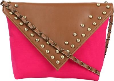 Kanvas Katha Girls, Women Pink Canvas Sling Bag