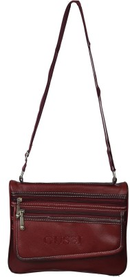 GUSSI Women Multicolor Genuine Leather Sling Bag