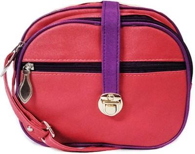 Chalissa Girls, Women Pink, Purple PU Sling Bag