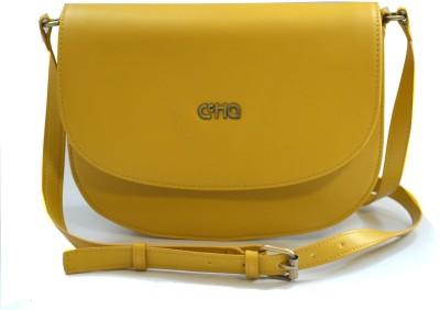 Ccha Women Yellow PU Sling Bag