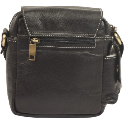 Bluwhale Women Casual Black Genuine Leather Sling Bag