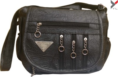 YOURS LUGGAGE Girls, Women Black PU Sling Bag