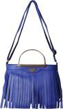 First loot Women Blue Rexine Sling Bag