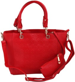 GIHAAN Women, Girls Red PU Shoulder Bag