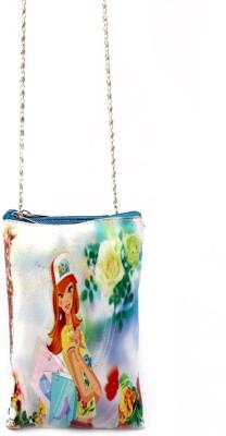 Mayursflora Women Blue Leatherette Sling Bag