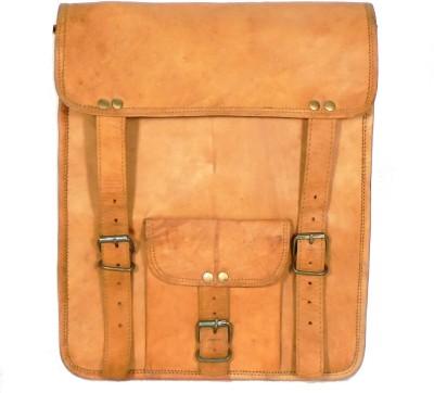 Adimani Men, Women Brown Genuine Leather Sling Bag