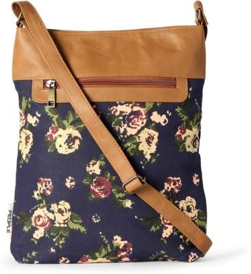 People Women Blue PU Sling Bag