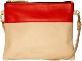 Khiora Women Beige, Red Genuine Leather ...