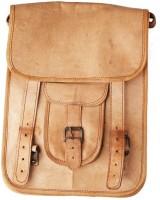 Marwadi Dhani Boys & Girls Brown Genuine Leather Sling Bag