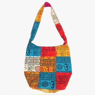 Old School Ethnic Girls, Women Multicolor Cotton Shoulder Bag