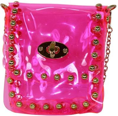 Gift Island Girls Pink Leatherette Sling Bag