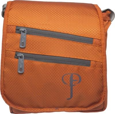Purple Feather Men, Women Orange Nylon Sling Bag