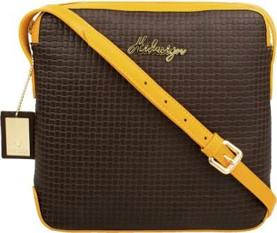 Hidesign Women Brown, Yellow Genuine Leather Sling Bag