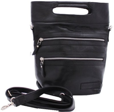 Delphi Leather Girls Formal Black Genuine Leather Sling Bag