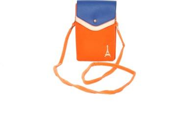 FabSeasons Women Casual Orange Velvet Sling Bag