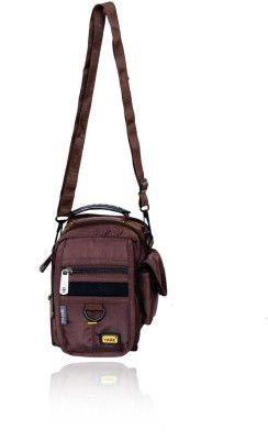 Yark Girls Casual Brown Polyester Sling Bag