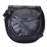 Skyways Women Black Leatherette Sling Ba...