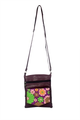 NFI Girls, Women Purple Leatherette Sling Bag