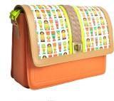 Zaera Women Casual Orange PU Sling Bag