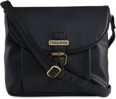 Tessa Moda Girls, Women Black PU Sling Bag