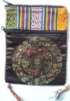 HR Handicrafts Girls Brown Canvas Sling Bag