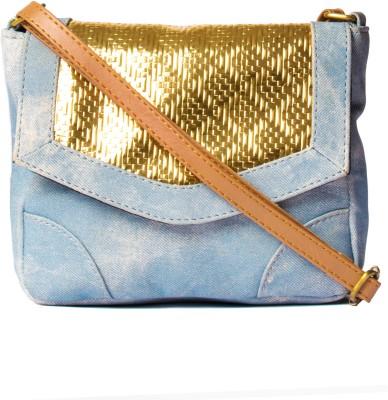 Desi Drama Queen Girls Casual Blue PU Sling Bag