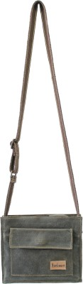 Anekaant Women Casual Brown Genuine Leather Sling Bag