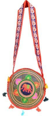 Ruff Women, Girls Multicolor Cotton Sling Bag