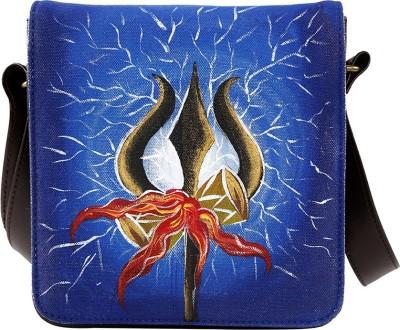 Rang Rage Men Casual Brown Canvas Sling Bag