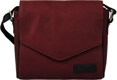 Borsavela Women Red PU Sling Bag