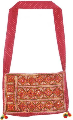 Navrang Colours Of India Women Red Cotton Shoulder Bag