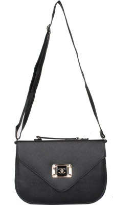 PST Girls, Women Black PU Sling Bag