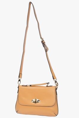 VIVO Women, Girls Casual Khaki PU Sling Bag