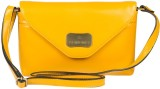 Lomond Women Yellow PU Sling Bag