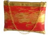 Demure Women Casual Red, Gold Canvas, PU...