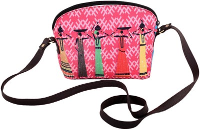 The G Street Women Pink Canvas Sling Bag