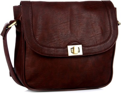 Gauge machine Girls, Women Tan Leatherette Sling Bag