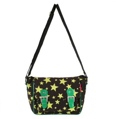 The Jute Shop Women Formal Black Cotton Sling Bag