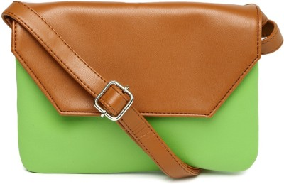 Dressberry Women Green PU Sling Bag