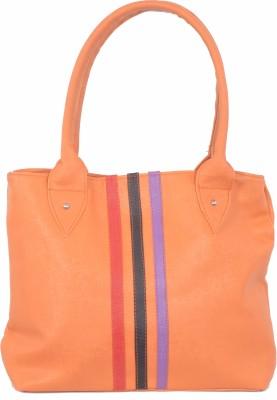 SK-Effects7 Women Orange Leatherette Hand-held Bag
