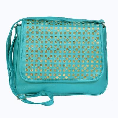 zasmina Girls Blue PU Sling Bag