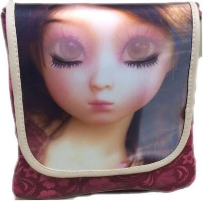 Racial Girls Maroon Rexine Sling Bag