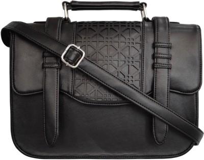 Toteteca Bag Works Women Black Leatherette Sling Bag
