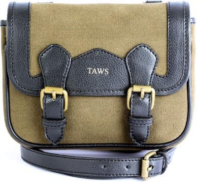 Taws Women Formal Khaki Canvas Sling Bag