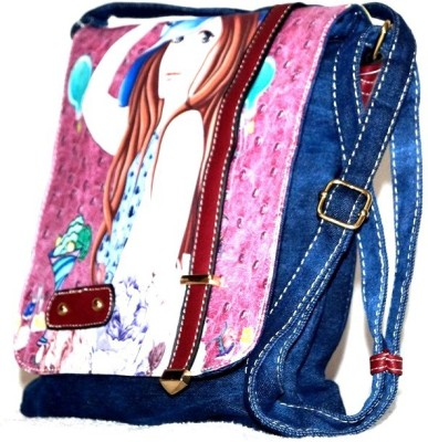 Steal Dee Style Women Blue Denim Sling Bag