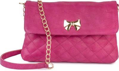 Lychee Bags Women Casual Pink PU Sling Bag