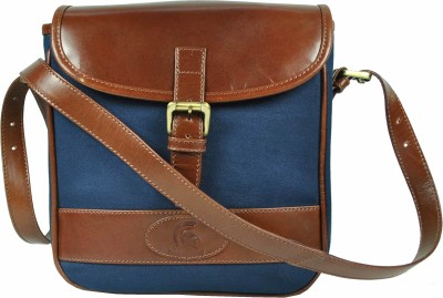 Delphi Boys Casual Blue Genuine Leather Sling Bag